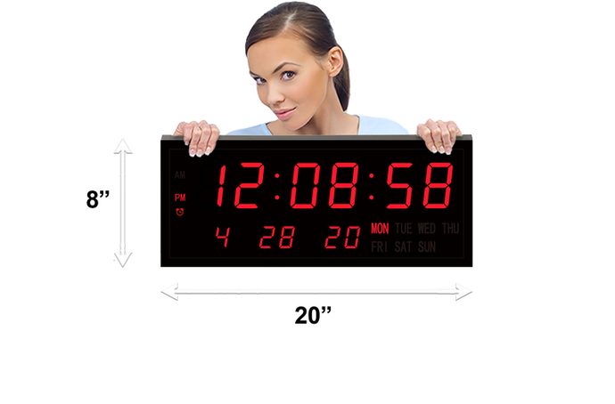 LARGE CALENDAR MULTI-ALARM LED CLOCK (4429730578478)