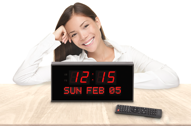 SUPER LARGE CALENDAR ALARM CLOCK WITH 16 ALARMS AND FULL REMOTE CONTROL (4429730807854)