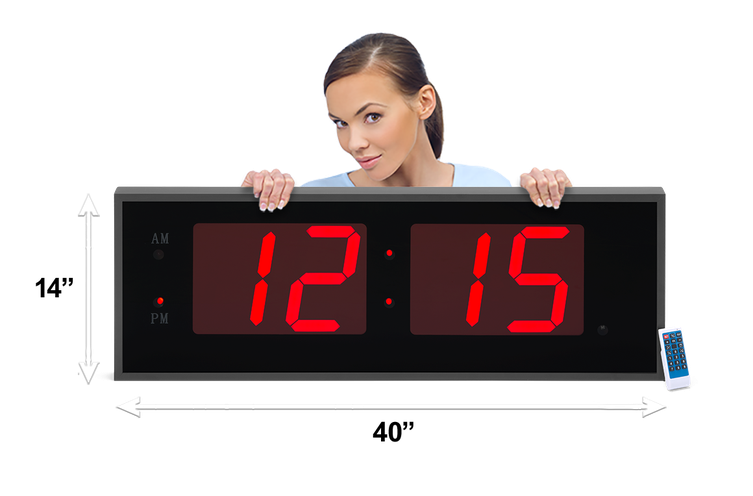 THE GIANT 8″ NUMERALS RED LED CLOCK (4429731004462)