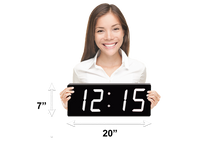 Load image into Gallery viewer, THE HUGE 5″ NUMERALS WHITE LED CLOCK (4429730152494)