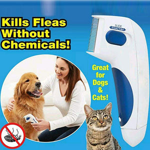 Flea Doctor Electric Comb for Pet Dogs & Cat to Clean Louse