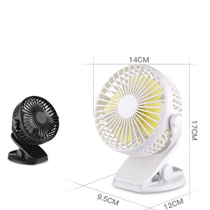 Handheld Desktop Charging Clip Mini Silent Electric Fan