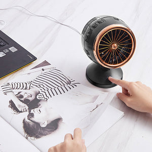 Silent Soft Wind Double Leaf Turbine Mini Portable Air Cooler Fan