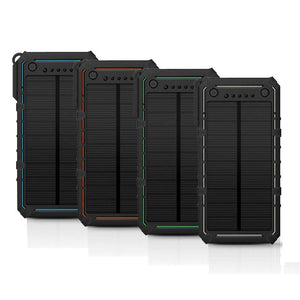 Ultra-Thin Mobile Power 15000mAh Outdoor Solar Charging Treasure