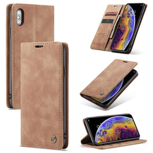 Vintage Multi Functions Wallet Card Flip Cover Phone Cases for iPhone