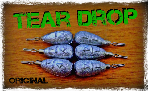 3. Tear Shot Original Tear Drop Shot Weights
