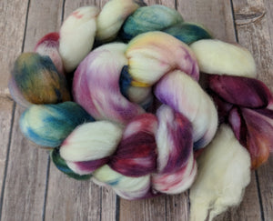 April showers - superwash merino sock fiber
