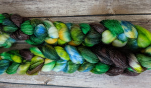 Fangorn forest- superwash merino/sparkle fiber