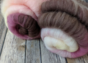 Cherry Blossom mini sock batts (3.5 oz total weight)
