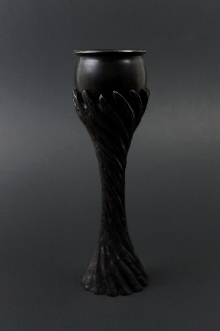 Lap chalice in African blackwood