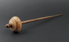 Load image into Gallery viewer, Tibetan style spindle in birdseye maple and walnut