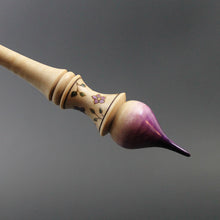 Load image into Gallery viewer, Russian style spindle in hand dyed curly maple