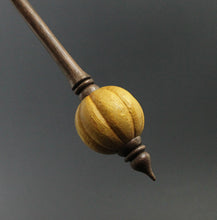 Load image into Gallery viewer, Bead spindle in osage orange and walnut
