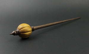 Bead spindle in osage orange and walnut