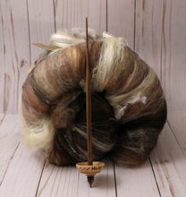 "Load image into Gallery viewer, ""Mischief Managed"" Tibetan style spindle and batt set"