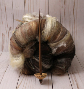 """Mischief Managed"" Tibetan style spindle and batt set"