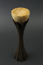 Load image into Gallery viewer, Lap chalice in Karelian birch and walnut