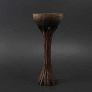 Lap chalice in walnut