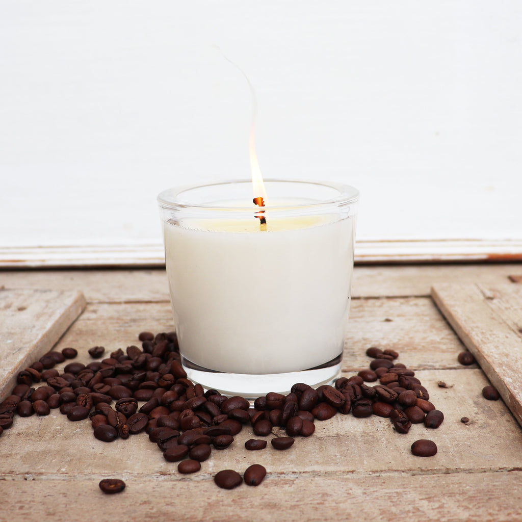 The Candle Kitchen coffee candle with coffee beans