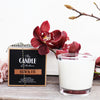 The Candle Kitchen creamy white Black Fig Candle with Chunky glass holder and Black Packaging Box