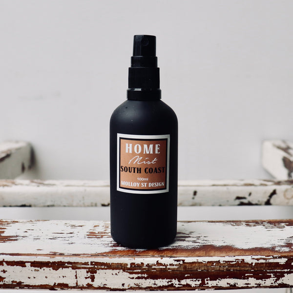 South Coast Room Spray in black glass spray bottle