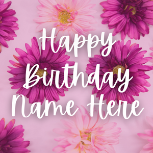 Flower Power Personalized Card (all occasion)