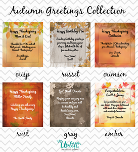 Autumn Greetings Collection