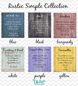 Rustic Simple Collection