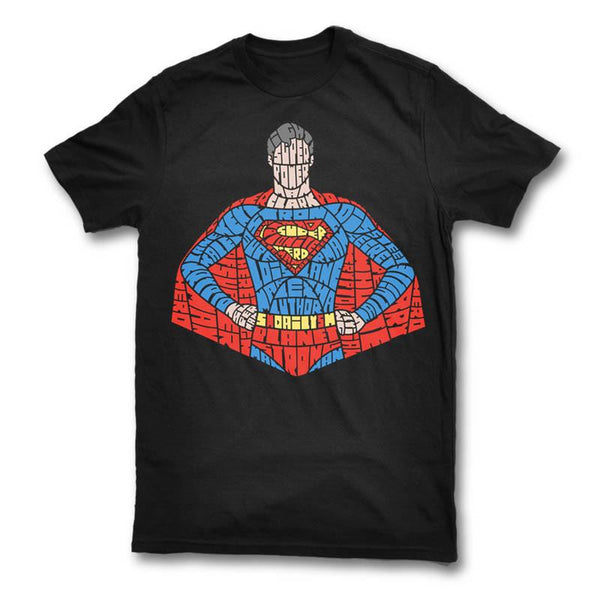 Superman in Typography Unisex T-shirt