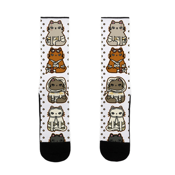 Mad Cats Furry Road US Size 7-13 Socks by LookHUMAN