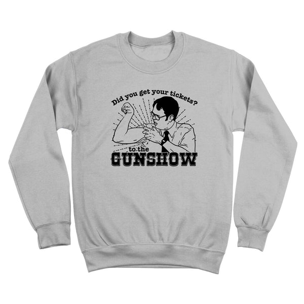 The Dwight Schrute Gun Show Crewneck Sweatshirt