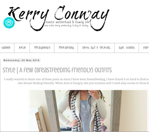 Sweetheart Nursing Top review by Mum Blogger Kerry Conway