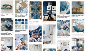 Create a coastal home with rich soulful blues