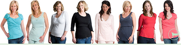 Nursing tops, breastfeeding tops