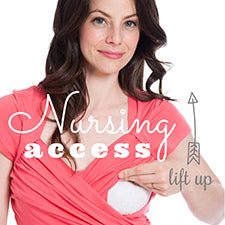Nursing Access, how to breastfeed in Charlotte Keating Nursingwear, Nursing tops, breastfeeding clothes
