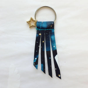 Handpainted Shooting Star Keyring 2