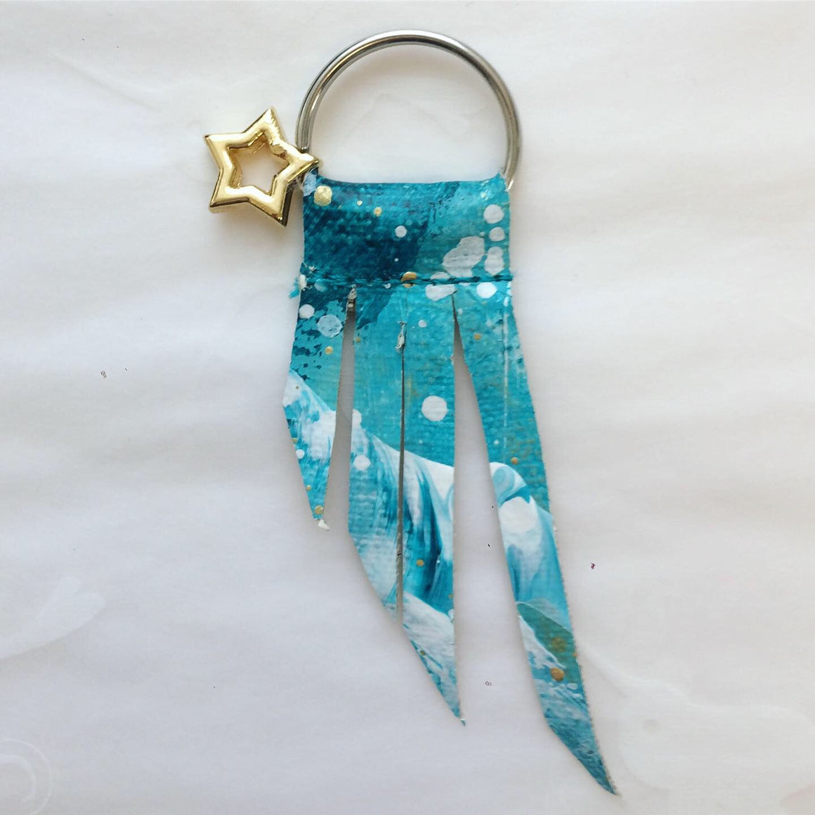 Handpainted Shooting Star Keyring 5