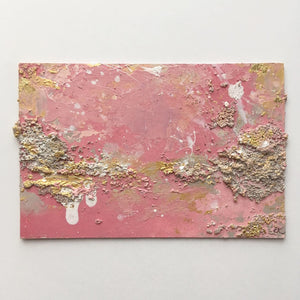 Rocky Shore abstract painting in pinks & neutrals