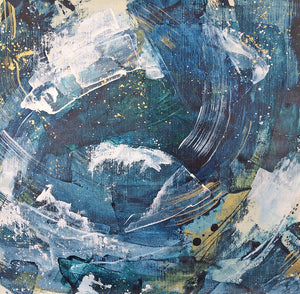 Waves 8 Vortex Abstract painting 35cm x 36cm