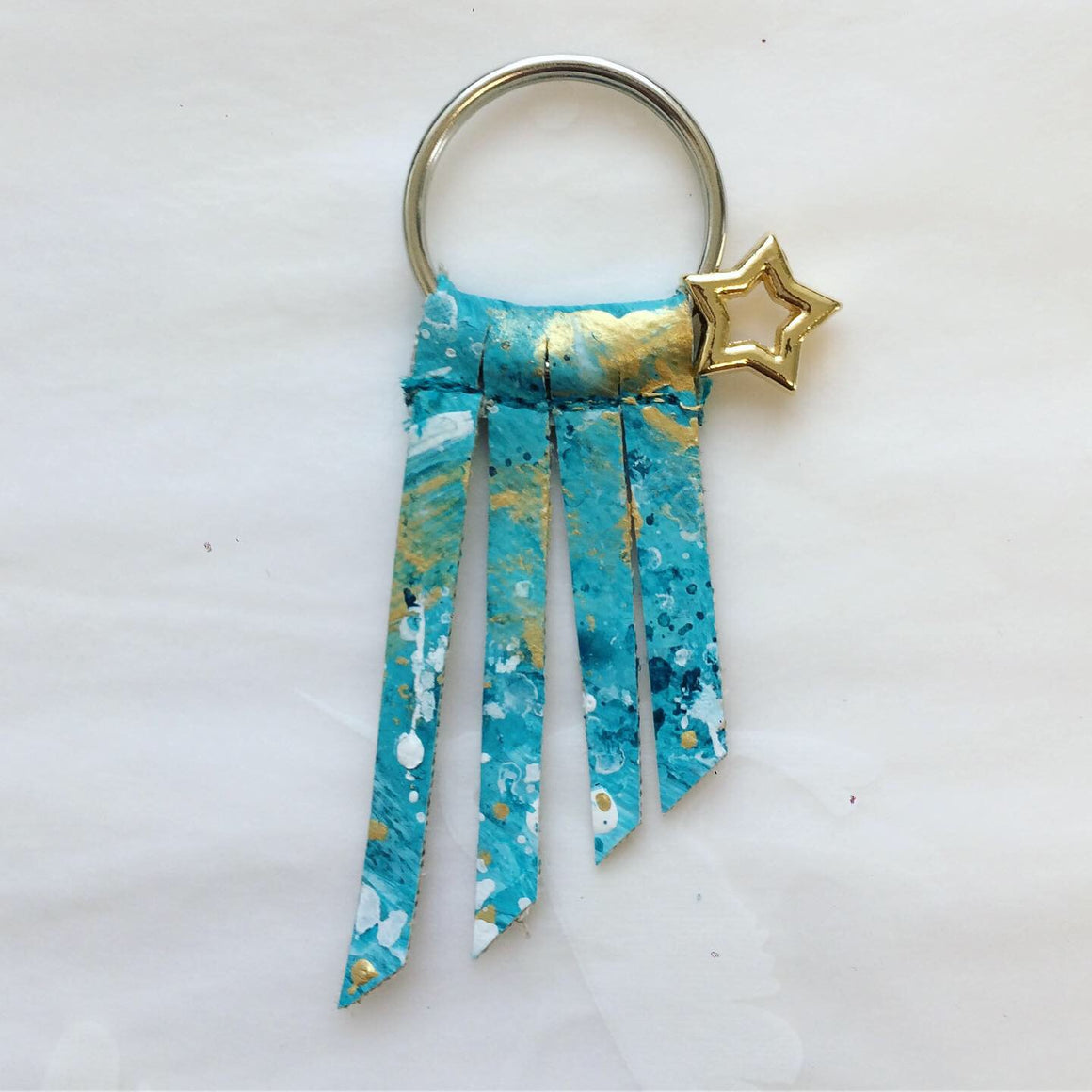 Handpainted Shooting Star Keyring 4