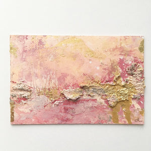 Sunlit Bayou abstract painting in pinks & neutrals