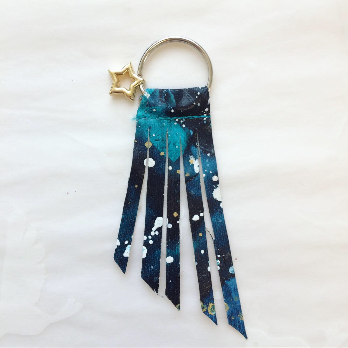 Handpainted Shooting Star Keyring 1
