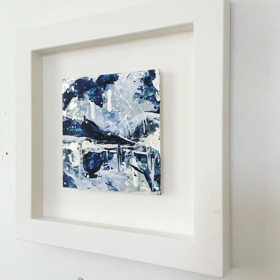 Distant Shores 2 abstract painting  20cm x 20cm