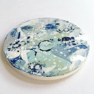 Distant Shores hand painted coasters