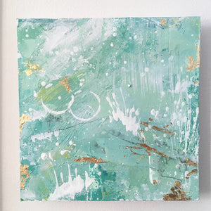 Hillward | Green Abstract Landscape Mini Painting 20cm x 20cm