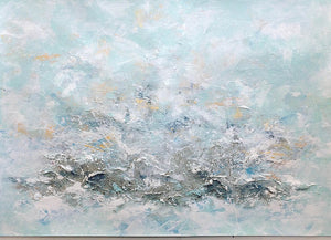 Landscape 1 Windswept Seascape Abstract Painting A2 49.4cm x 42cm