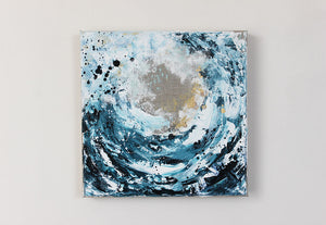 Waves 1 Seaspray Abstract Painting 30cm x 30cm