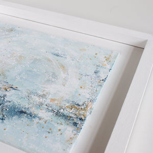 Tranquil Waters Framed Abstract Landscape Painting 30cm sq