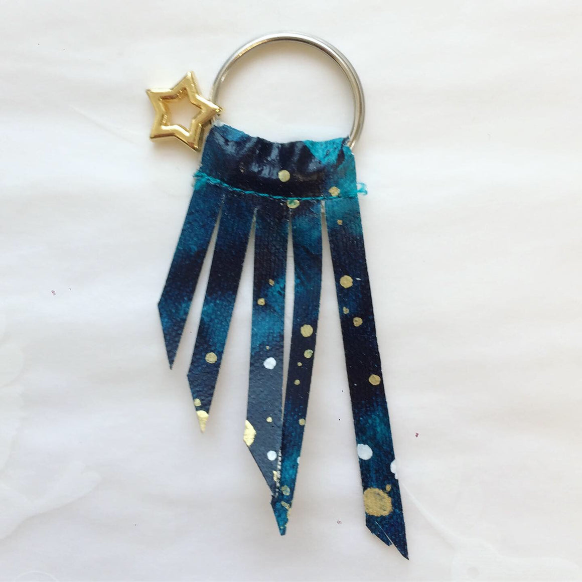 Handpainted Shooting Star Keyring 3
