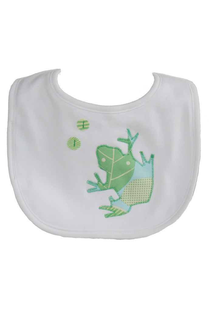 Baby Bib Blue Green Frog